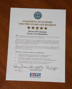 Statement of Support For Guard and Reserve